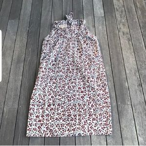 Marni white and maroon floral design dress